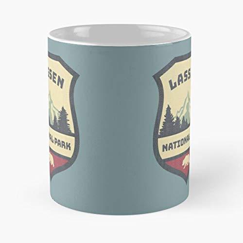 Parks Steaming Water National Hot Maps Us Fumaroles Hats Taza de café con Leche 11 oz !