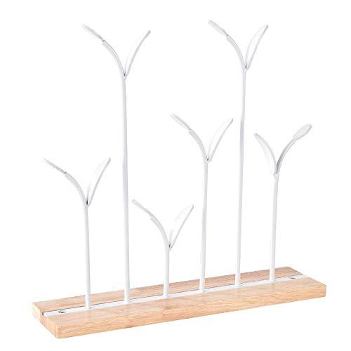 Fdit houten sieraad organisator ijzeren tafel halsketting houder opslag halsketting armbanden oorbellen houder display staander ornamenten MEERWEG OPKING