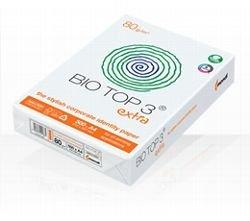 BioTop 3 Extra Kopierpapier 90g TCF von Mondi DIN A4-500 Blatt Bio Top 3