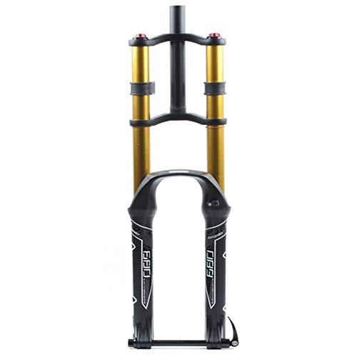 KQBAM Horquilla De Bicicleta MTB 26 27,5 29 Pulgadas Horquilla De Descenso Bicicleta Recta Amortiguador Amortiguador De Aire Eje Pasante 15Mm Viaje De Resorte 135Mm