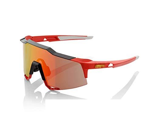 KEHUITONG Gafas de Sol, Gafas de Ciclismo, Deportes al Aire Libre, Gafas de Sol para Bicicleta de montaña, Gafas de Pesca, Rojo