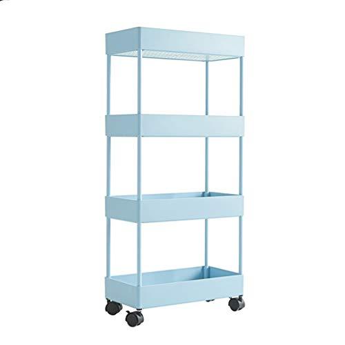 Vestíbulo 3 niveles de la cocina for guardar carrito con ruedas, Baño Delgado Utilidad móvil de compras for Oficinas Lavandería Limitar la Organización Espacial de la compra para almacenar artículos e