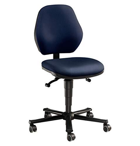 bimos Arbeitsstuhl - Permanentkontakt, mit Rollen - Kunstlederbezug - Arbeitsdrehstuhl Arbeitsstuhl Drehstuhl Stuhl Universalstuhl