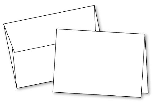 Blank White Invitation Cards with Envelopes All Occasions,(10