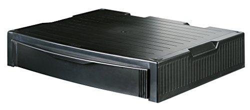 HAN 9250-13, MONITOR STAND, Profi Monitorständer mit 1 Schublade, Stabil, Schick und stapelbar, schwarz