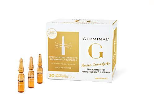 Germinal Siero in Fiale per Viso Progressive Lifting, Effetto botox a lunga durata e Lifting immediato con una Combinazione di Peptidi, Proteine del Mais ed Vitamina C 30 Fiale x 1,5 ml