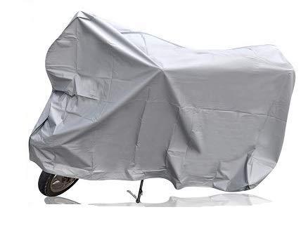 Funda para Moto, Cubierta Exterior, plástico Cubre Motocicleta, protección contra la Lluvia,Impermeable, Protector, Suciedad (230 * 130 CM)