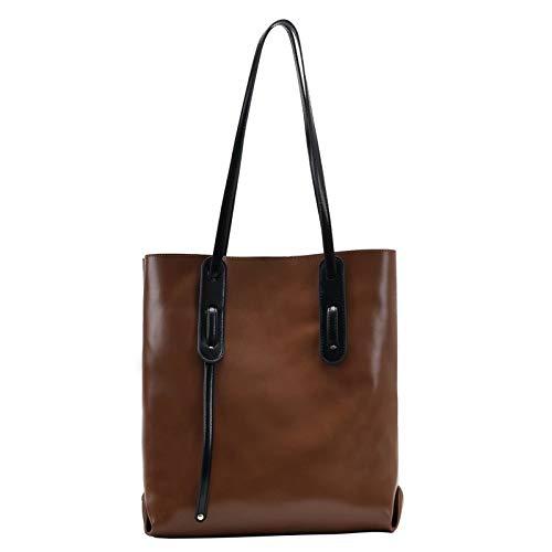 Soft Leather Shoulder Bags for Womens Women's Handbags,Stylish Work Bag Plain Soft Vegan Leather Bucket Tote Shoulder Bag Womens Large Hand Bag