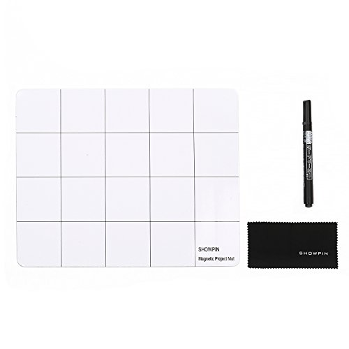 Showpin Magnetic Project Mat Prevent Small Electronics Losing Rewritable Work Surface Mat Professional Cell Phone, Laptop, Computer Repair Mat for iPhone, Macbook