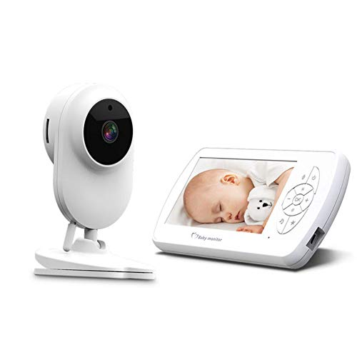 Baby Monitor Mit Kamera Und Nachtsicht, Wireless Transmission 4.3 '' LCD-Display Zwei-Wege Audio Thermal Monitoring and Lullaby Songs