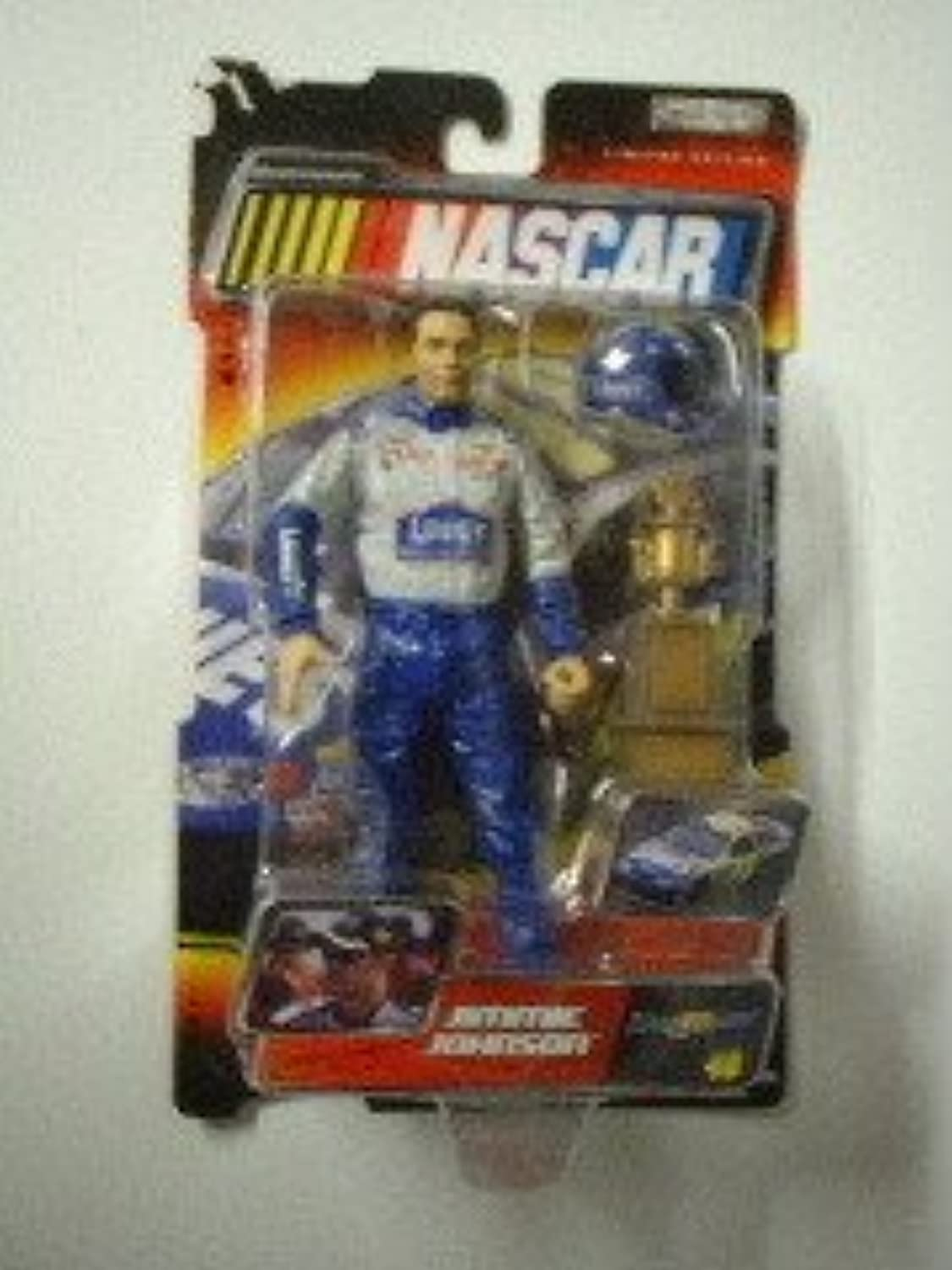 Jimmie Johnson  48 Lowes Jakks Pacific Road Champs Action Figure Approximately 6 Inches Tall With Helmet & Plastic Trophy 2003 Edition by Jakks Pacific