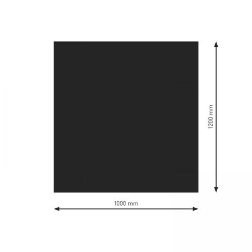 Schindler + Hofmann PU051-0B1-sw Bodenplatte B1 Rechteck/Quadrat schwarz pulverbeschichtet 1200 x 1000 mm