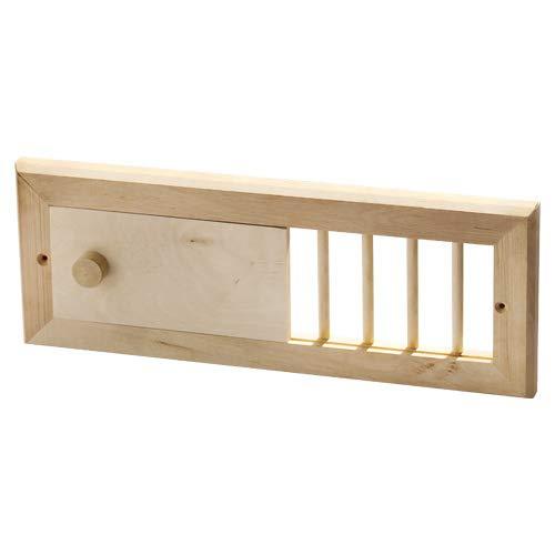 Sauna Lüftungsschieber Saunabelüftung Lüftungsgitter mit Schieber Holz Erle 8861