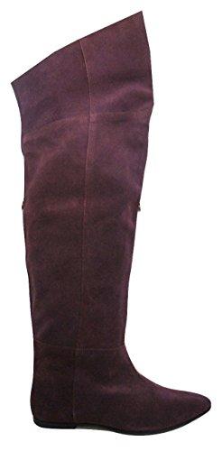 MISS KURT GEIGER Filbert Überknie-Stiefel aus echtem Wildleder, Weinrot, Rot - burgunderrot - Größe: 36 EU