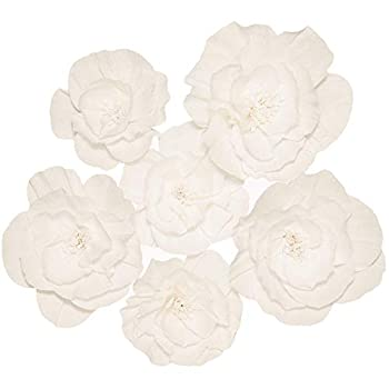 Paper Flowers Decorations for Wall - Paper Wall Flowers - Flower Wall Decorations - Large Flowers Decorations for Wall - Paper Flower Wall - Big Paper Flowers Decorations for Wall  6Pcs