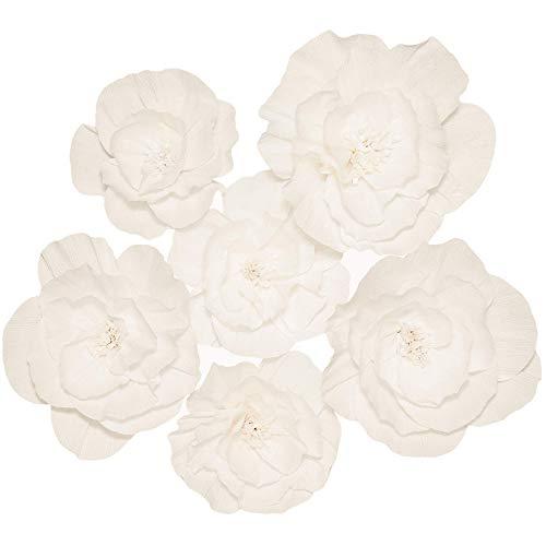 Flores de papel grandes para decoración de pared, flores de papel, decoración de pared, flores grandes, decoraciones para pared, flores de papel gigantes, decoración de pared, 6 unidades