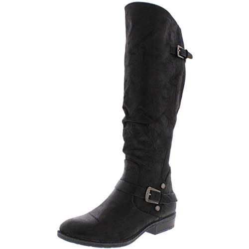 BareTraps Womens Yanessa Closed Toe Knee High Riding Boots, Black, Size 7.5