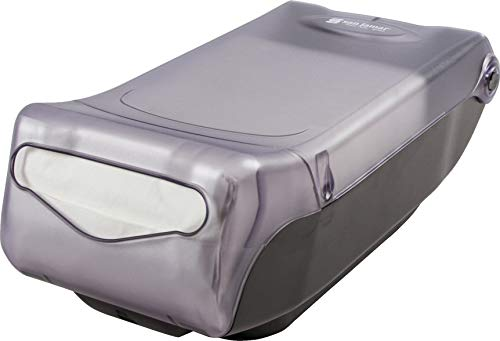 "San Jamar H5000 Venue Countertop Minifold Control Napkin Dispenser, 550 Capacity, 8"" Width x 5-15/16"" Height x 15-3/4"" Depth, Clear"