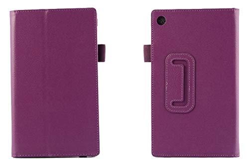 QiuKui Tab Cover For Lenovo Tab 3 7 Essential 7.0, Tablet Case Bracket Flip Leather Cover For Lenovo Tab 3 7 Essential 7.0 710F TB3-710F TB3-710i 710i TB3 710 Tab3 (Color : For Bracket Purple)