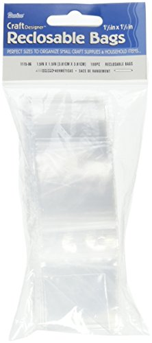 Darice 1115-06  Poly  Re-Closable Bags, 1.5x1.5-Inch, 100 Piece