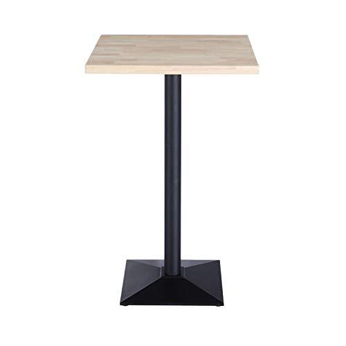 Adec - Moss, Mesa Alta, Mesa Auxiliar, Mesa de Bar Color Roble Salvaje y Negro, Medidas: 60 cm (Largo) x 60 cm (Ancho) x 110 cm (Alto)