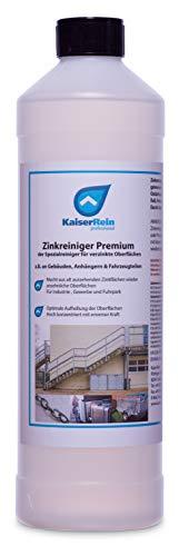 KaiserRein Zinkreiniger 1L Premium der Spezialreiniger für verzinkte Oberflächen z.B. an Gebäuden, Anhängern & Fahrzeugen Auto Anhängern Zinkbleche verzinktem Stahl