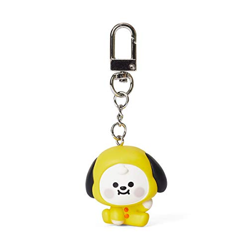 BT21 Baby Series CHIMMY Character Cute Mini Figure Keychain Key Ring Bag Charm with Clip, Yellow