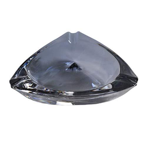 Este es un cenicero con una mano de obra exquisita Cenicero, cristal cenicero vidrio fumando ceniza bandeja engrosamiento portátil bandeja de ceniza para la sala de estar Decoración de oficina Regalos