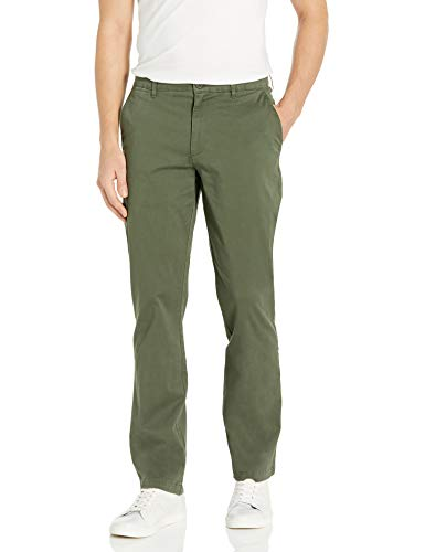 Amazon Brand - Goodthreads Men's Straight-Fit Washed Comfort Stretch Chino Pant, Olive, 36W x 29L