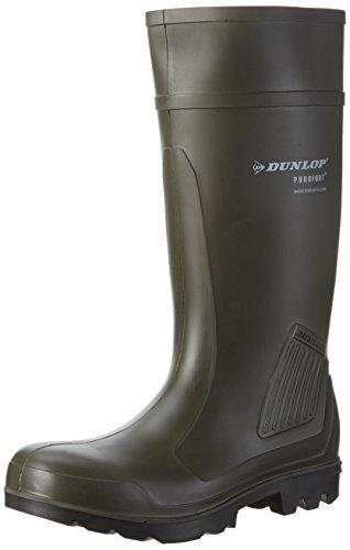 Dunlop C462933 S5 PUROFORT GROEN 44, Unisex-Erwachsene Langschaft Gummistiefel, Grün (Grün(Groen) 08), 44 EU
