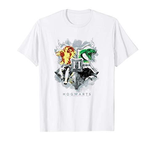 Harry Potter Hogwarts Painted Crest T-Shirt