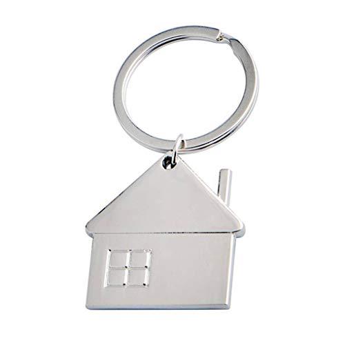 DANDANdianzi Pequeña Casa colgante en forma de llavero de metal Llavero de...