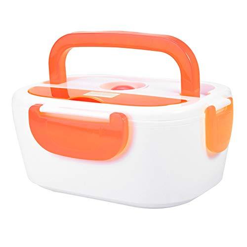 Fiambrera con calefacción de coche Fiambrera eléctrica Fiambrera eléctrica segura y duradera Fiambrera con calefacción eléctrica Contenedor de comida portátil para oficina(Orange)
