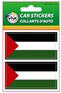 2 Palestine Country Flag Set of Small Automobile Bumper Stickers Decals ... 1 3/8 X 2 3/4 Inches ... New in Package