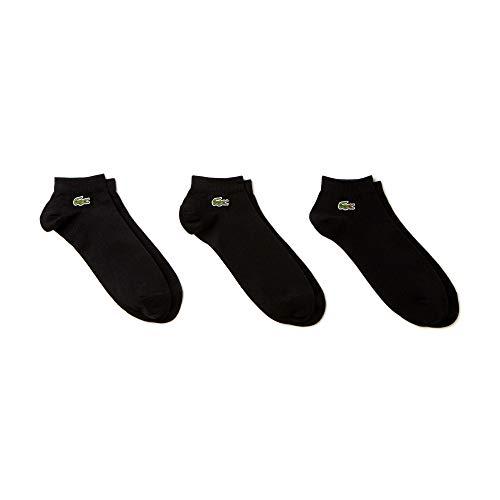 Lacoste Herren Sneakersocken RA1163-00 - Schwarz (Noir/Noir-Noir) , 40/46 (Herstellergröße: 6)