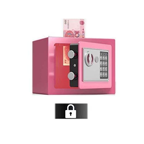 Accesorios para el hogarCaja de seguridad mediana Caja de seguridad para el hogar con código y llaves de anulación de emergencia Alarma incorporada Montaje en pared o piso para joyería Documento