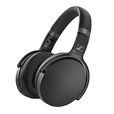 Sennheiser HD 450BT Wireless Headphones, with active noise cancellation, Black by Sennheiser