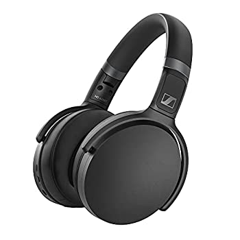 SENNHEISER HD 450BT Bluetooth 5.0 Wireless Headphone with Active Noise Cancellation - 30-Hour Battery Life USB-C Fast Charging Virtual Assistant Button Foldable - Black