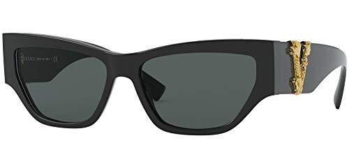 Versace VIRTUS VE 4383 BLACK/GREY 56/15/140 Dames Zonnebrillen