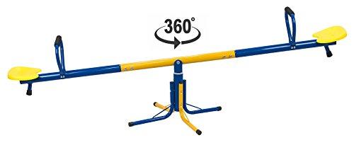 Solex Karussell-Wippe Toni 2in1 Kinderwippe und 360° Karusellwippe für draußen - Kinderwippe wetterfest Kinderspielzeug für den Garten