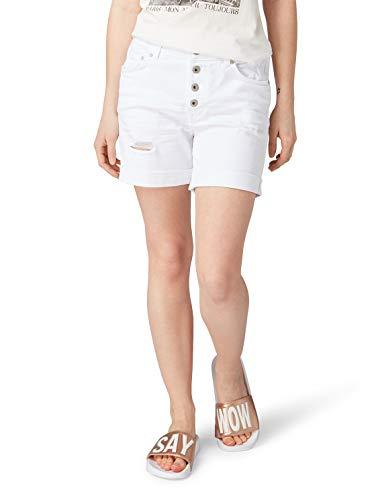 TOM TAILOR Denim für Frauen Jeanshosen Cajsa Shorts White Denim, XL