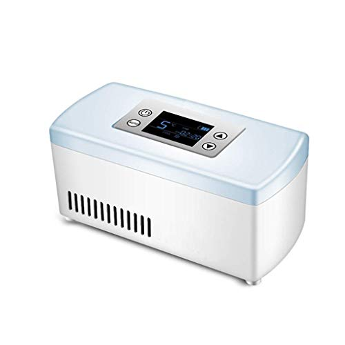 Preisvergleich Produktbild Mini-Kühlschränke Insulin-Kühlbox Home Car Refrigeration Wiederaufladbare Smart Small Refrigerator Tragbare tragbare Interferon-Medikamente (Farbe: Blau,  Größe: 21 * 10 * 9, 5 cm)