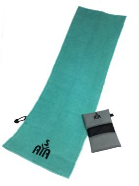 YISAMA Toalla De Microfibra Compacta,Secado Rapido Para Gimnasio,Camping,Tenis,Padel,Bicicleta Y Golf Color Aguamarina