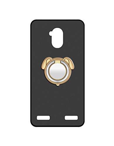 Sunrive Für ZTE Blade V7 Lite Hülle Silikon, 360°drehbarer Ständer Ring Fingerhalter Fingerhalterung Handyhülle matt Schutzhülle Etui Hülle (Farbe Golden)+Gratis Universal Eingabestift MEHRWEG