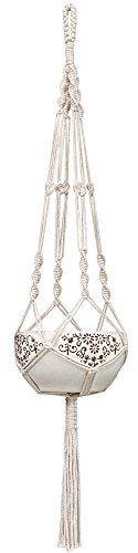 Mkouo Blumenampel Seil Pflanzenhänger Makramee Hängeampel Pflanze Hanger Cotton Blumentopf Hängend Dekoration Garten Zimmer Pflanzen Halter 104cm