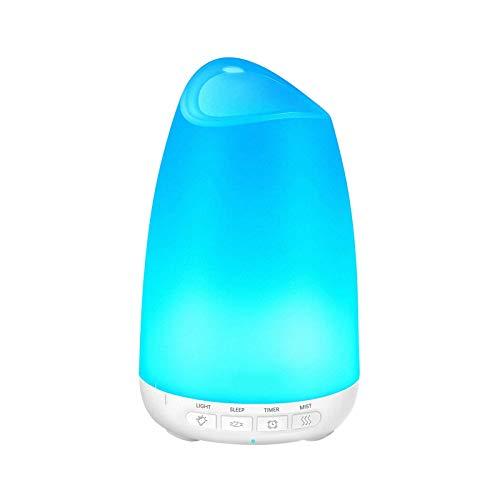 Aromaterapia con aceites Esenciales de 150 ml, humidificador Bastante difusor con Luces nocturnas de 8 Colores, Uso de hasta 9 Horas, Modo de suspensión, Apagado automático sin Agua, sin BPA