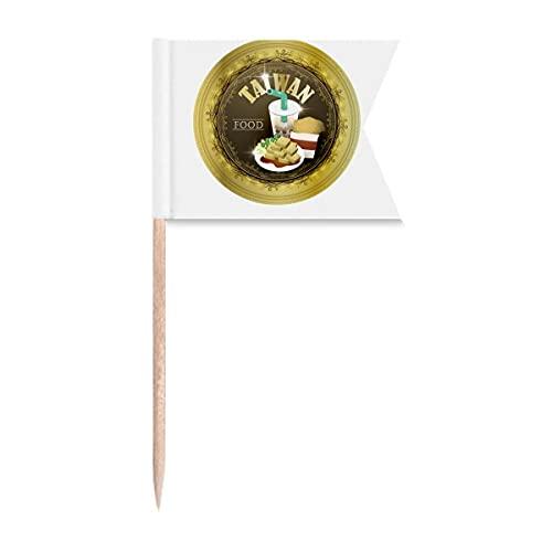 Taiwan-Flaggen für Reisen, Lebensmitteln, Porzellan, Art-Deco-Stil, Geschenk, modisch, Zahnstocher, Markierung für Party, Kuchen, Lebensmittel, Käseplatte