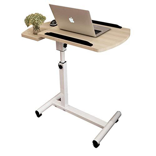 NYDZ Bureau Mobile d'ordinateur, Table réglable Mobile de Bureau d'étude de Poste de Travail de Tableau de Notebook en Bois de lit réglable de lit