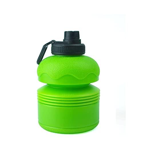ZYSM Botella De Deportes, Botella De Agua Potable Portátil Plegable De Plástico No Tóxico, Botella De Agua De Plástico, 2,2 litros, para Fitness, Yoga, Camping.