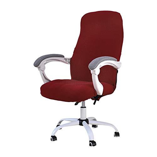 LKXZYX Stuhlsitzabdeckung Kissen, dehnbar gedruckt für Esszimmer Küchenstühle Slipcover Stuhl Sessel Büro Computer Stuhlabdeckung,Rot,L